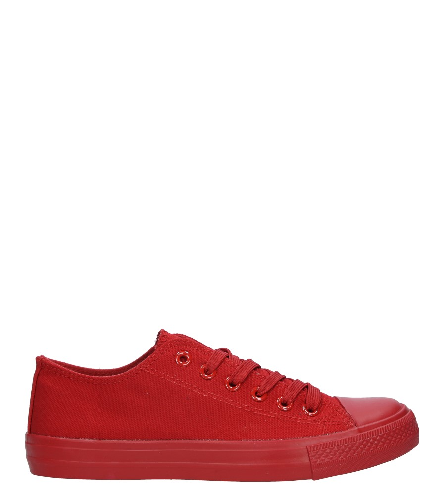 Czerwone trampki sznurowane Casu MC1-A5 czerwony