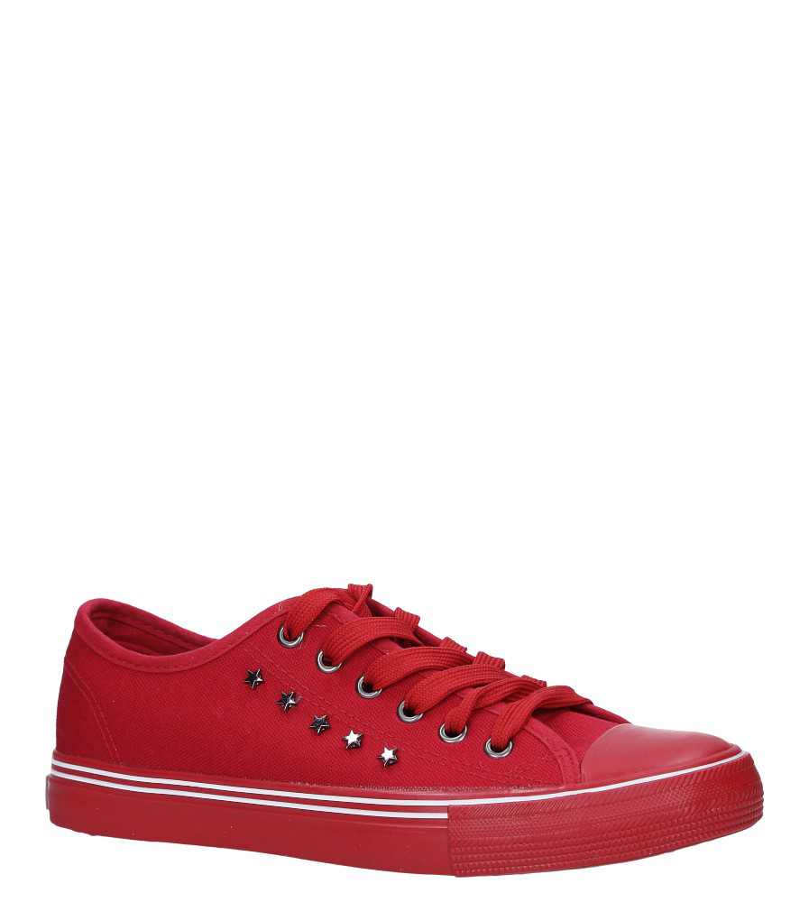 Czerwone trampki sznurowane z nitami Big Star DD274614