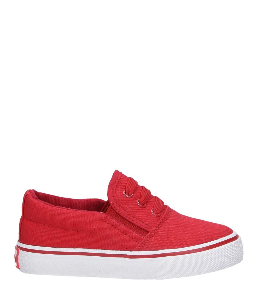 Czerwone trampki z gumką Casu AT-5263