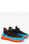 Czarne buty sportowe sznurowane Casu 21A4/BB czarny