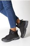 Czarne buty trekkingowe sznurowane softshell Casu B1530-1 czarny