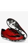 Czerwone buty sportowe piłkarskie korki sznurowane Casu DH415-6 czerwony