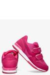 Fuksjowe buty sportowe na rzepy Casu HB-201D fuksja