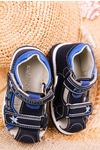 Granatowe sandały na rzepy Casu T17A granatowy