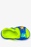 Niebieskie sandały piankowe na rzep z ozdobą Casu NX517 niebieski