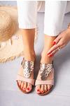 Różowe sandały ażurowe błyszczące płaskie Casu K20X7/P różowy