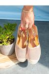 Różowe sandały espadryle ażurowe z zakrytymi palcami Casu C20X4/P różowy