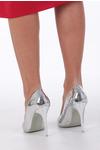 Srebrne szpilki lustrzane karnawałowe Casu srebrny