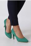 Zielone szpilki czółenka Sergio Leone 1399 jasny zielony