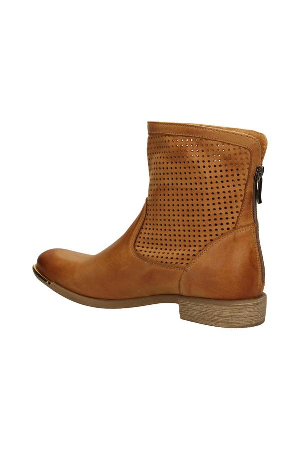Damskie BOTKI CARINII B1509-521-0 brązowy;;