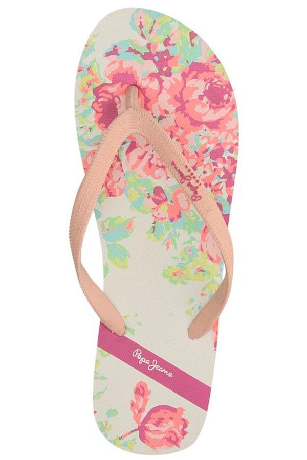 Damskie JAPONKI PEPE JEANS PLS70002 różowy;biały;multikolor