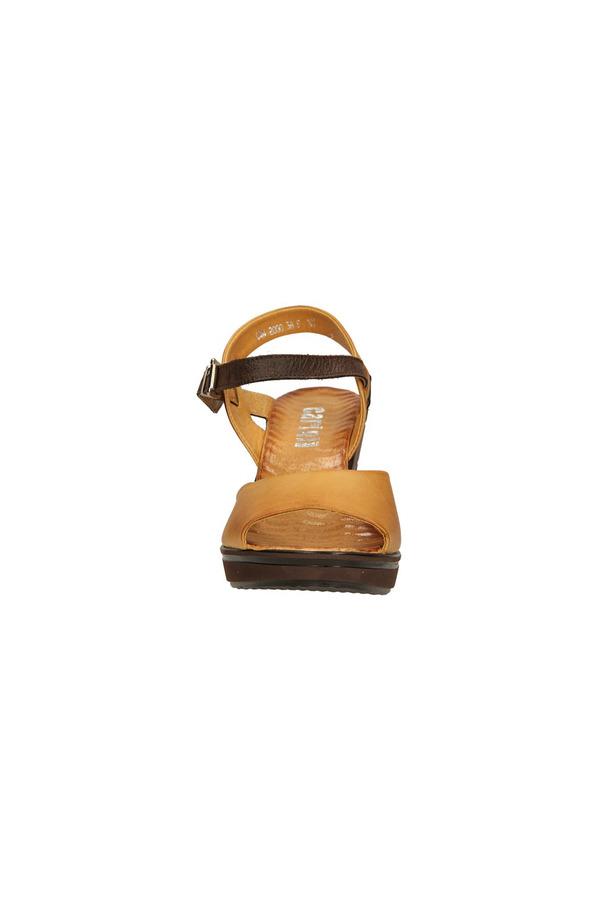 Damskie SANDAŁY CARINII B2000-A14 brązowy;brązowy;beżowy