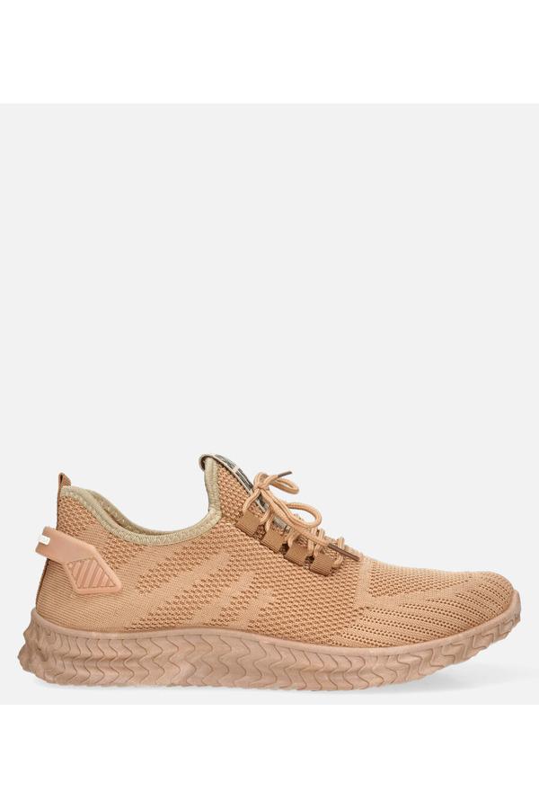 Beżowe buty sportowe sznurowane Casu 204/4BE beżowy