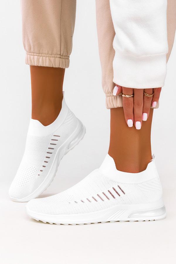 Białe buty sportowe slip on Casu 7044-3 biały