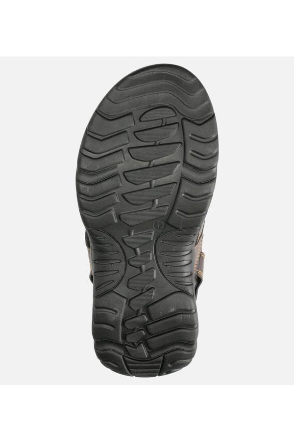 Brązowe sandały na rzepy Casu A5512-4 brązowy
