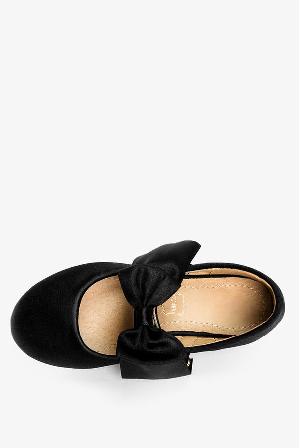 Czarne baleriny z kokardką Casu XC-269 czarny