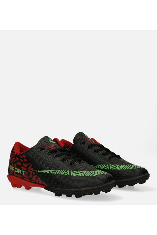 Czarne buty sportowe korki sznurowane Casu 20M1/M czarny