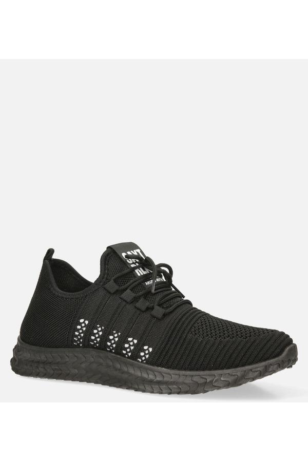 Czarne buty sportowe sznurowane Casu 204/5B czarny