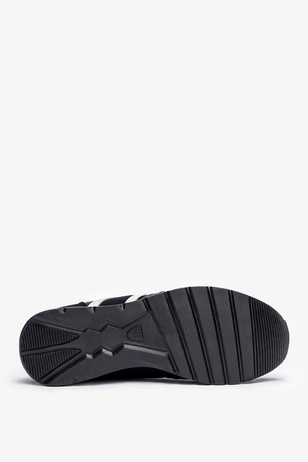Czarne buty sportowe sznurowane Casu 8218-1 czarny