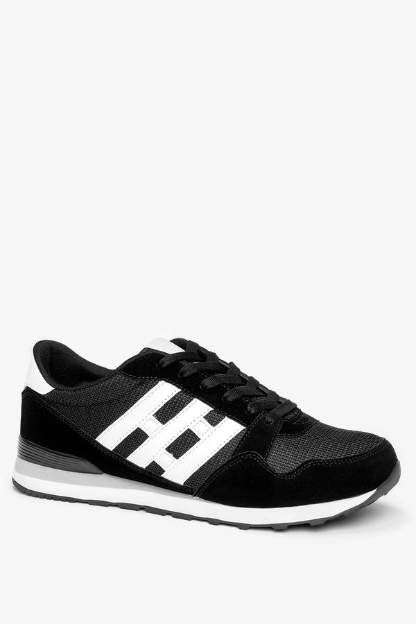 Czarne buty sportowe sznurowane Casu 9-K2161A czarny
