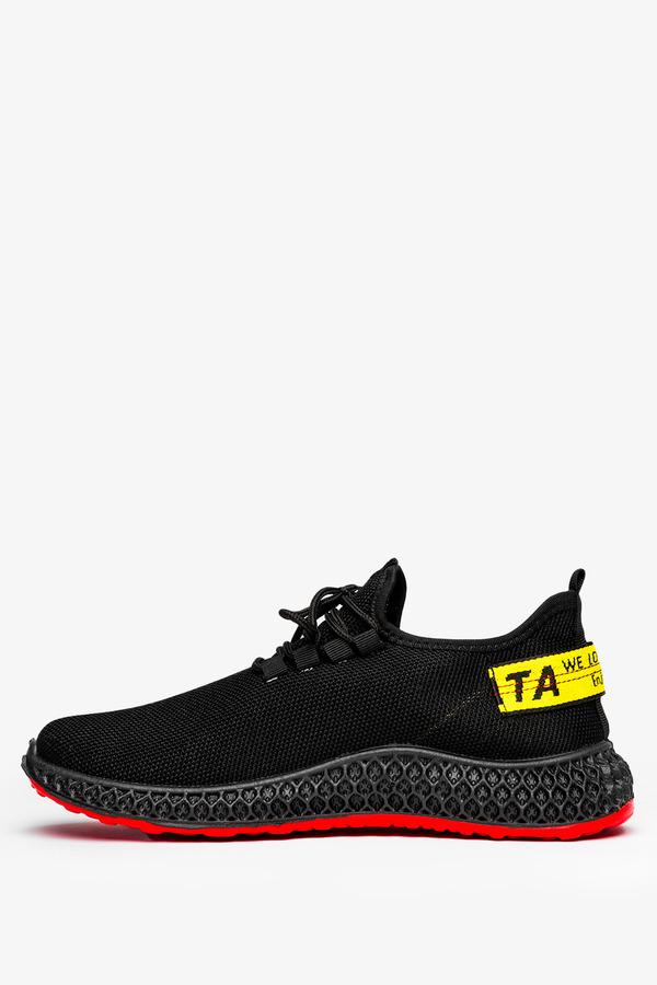Czarne buty sportowe sznurowane Casu JX-35 czarny