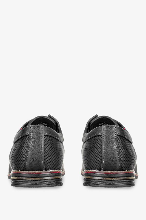 Czarne półbuty sznurowane Badoxx MXC450