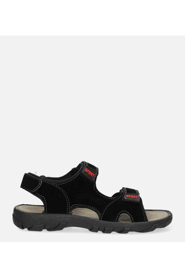 Czarne sandały na rzepy Casu 3129 czarny
