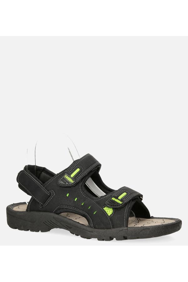 Czarne sandały na rzepy Casu B-67 czarny