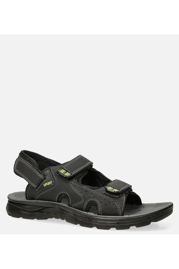 Czarne sandały na rzepy Casu M90072 czarny