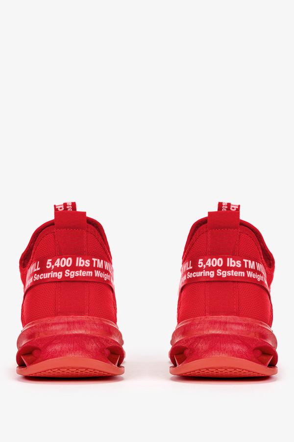 Czerwone buty sportowe sznurowane Casu 40/4/21/R