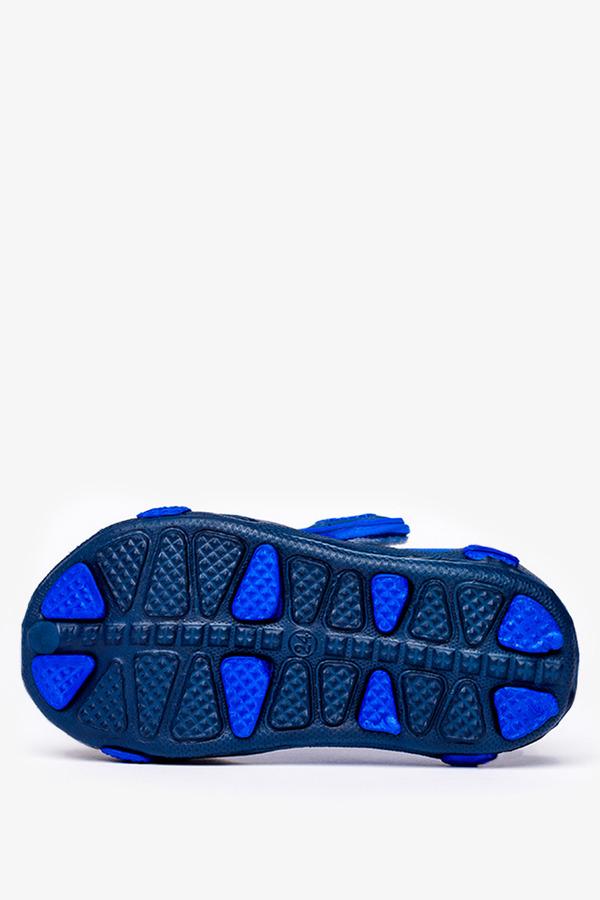 Granatowe sandały piankowe na rzep z ozdobą Casu NX517 granatowy