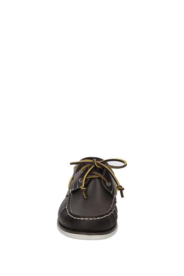 Mokasyny brązowe skórzane sznurowane Wrangler Ocean Leather WM171120 brązowy