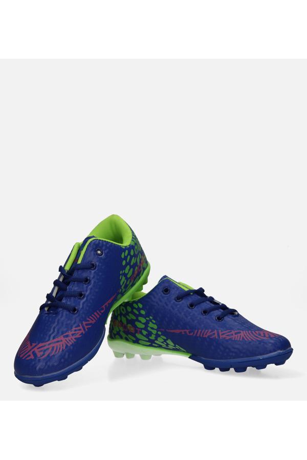 Niebieskie buty sportowe korki sznurowane Casu 20M1/M niebieski