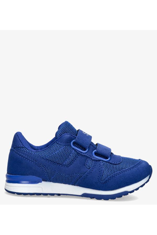 Niebieskie buty sportowe na rzepy Casu HB-201D ciemny niebieski