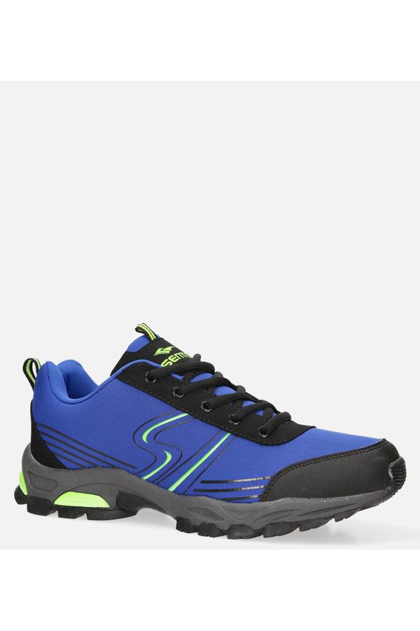 Niebieskie buty sportowe sznurowane softshell Casu A1808-4 niebieski
