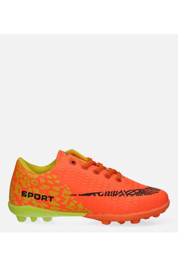 Pomarańczowe buty sportowe korki sznurowane Casu 20M1/M pomarańczowy