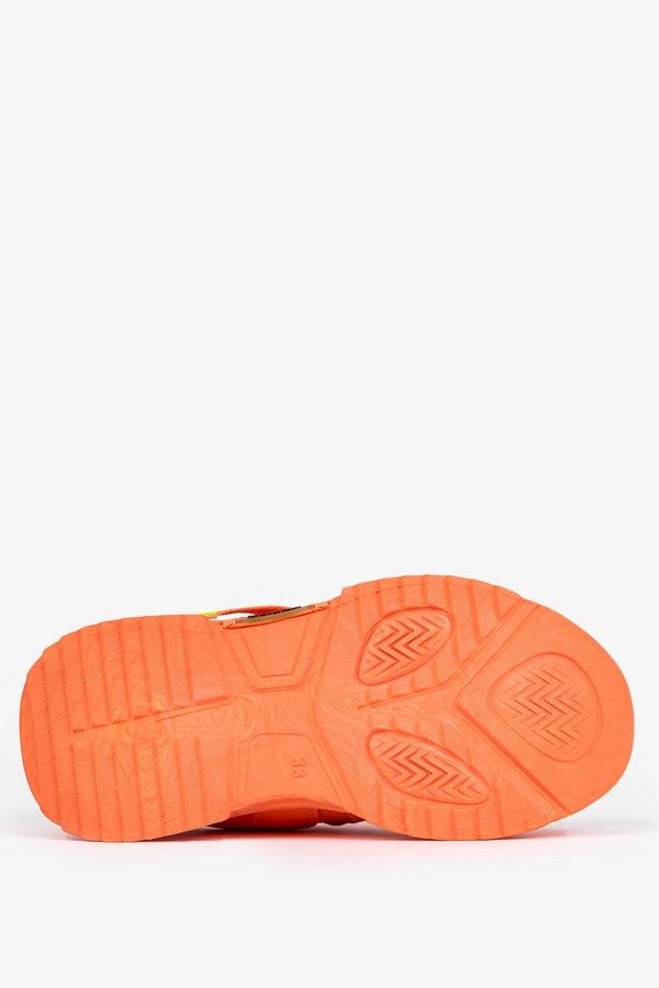 Pomarańczowe buty sportowe sznurowane Casu 19/3/21/M