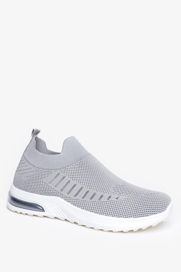 Szare buty sportowe slip on Casu 7044-4 szary