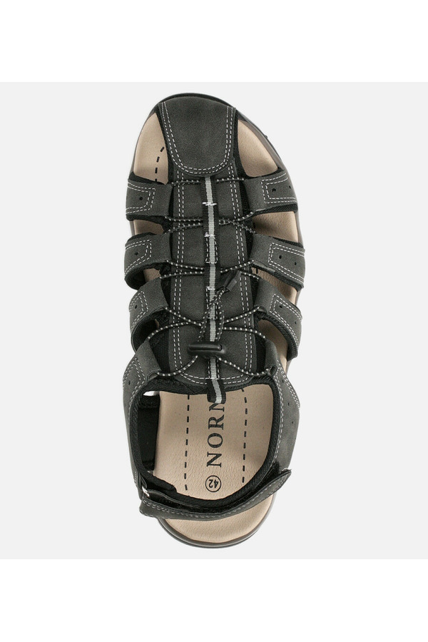 Szare sandały na rzep Casu B9661 szary