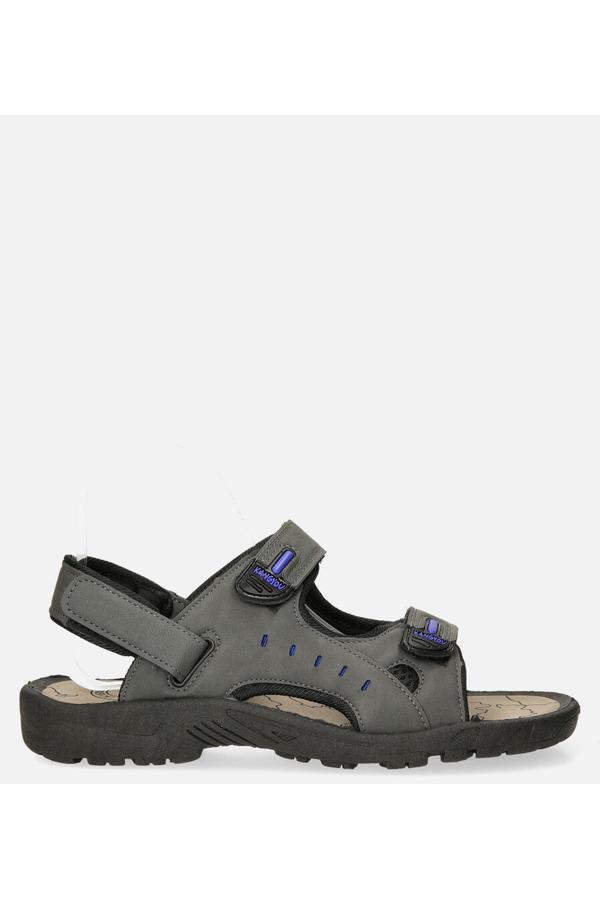 Szare sandały na rzepy Casu B-67 szary