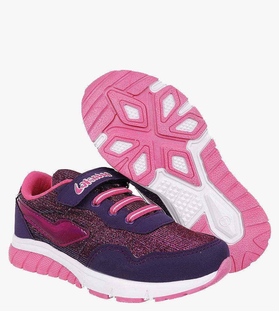 Fioletowe buty sportowe na rzep Casu D532-1 fioletowy