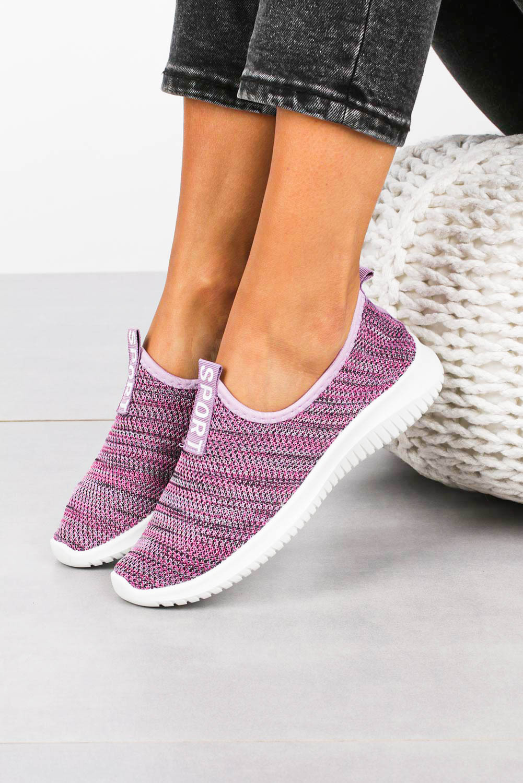 Fioletowe buty sportowe slip on Casu B68-7A fioletowy