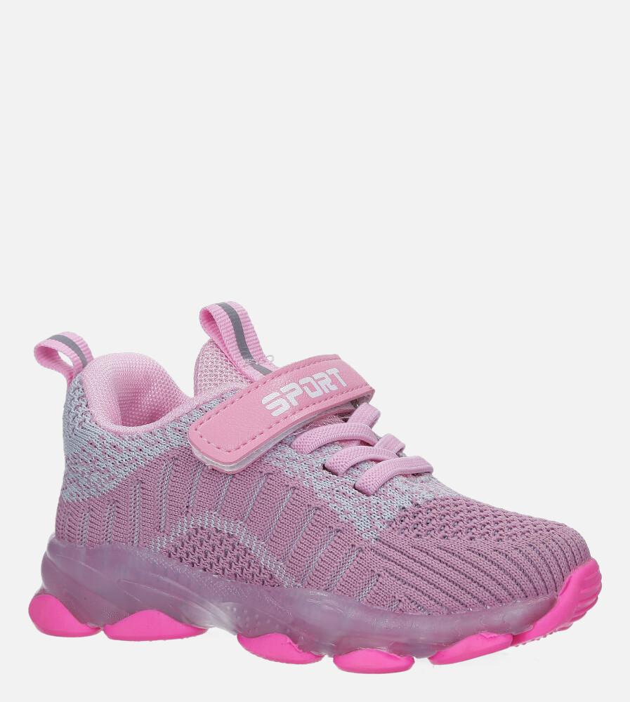 Fioletowe buty sportowe na rzep Casu 706 producent Casu