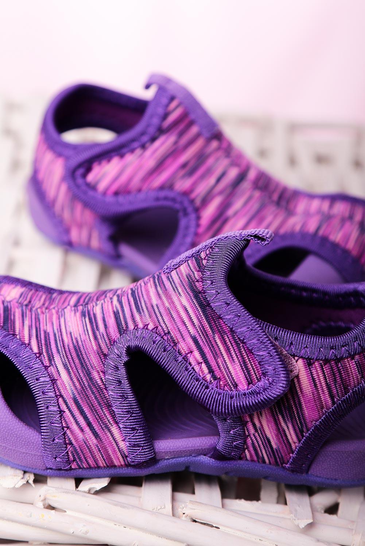 Fioletowe sandały na rzep Casu LA109 fioletowy