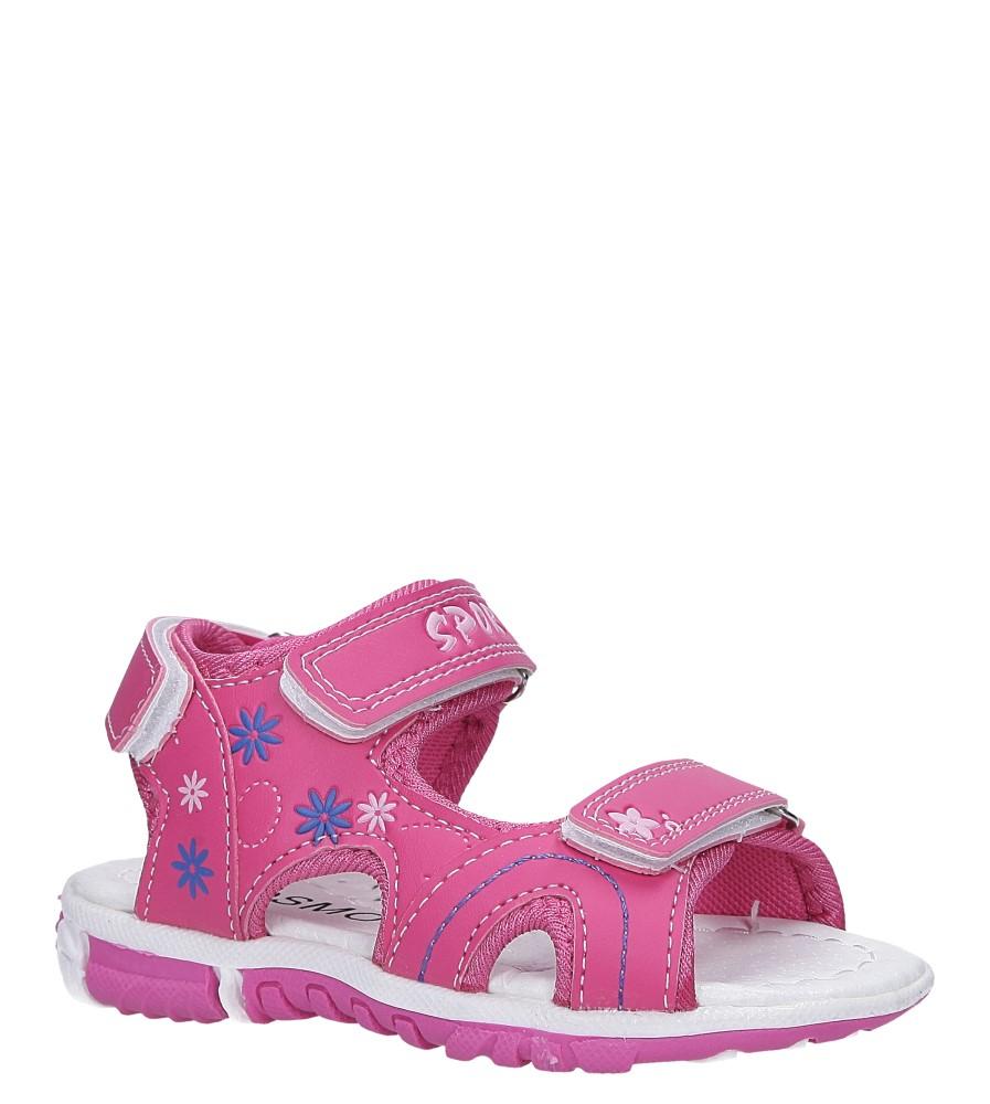 Fuksjowe sandały na rzepy Casu Y109B