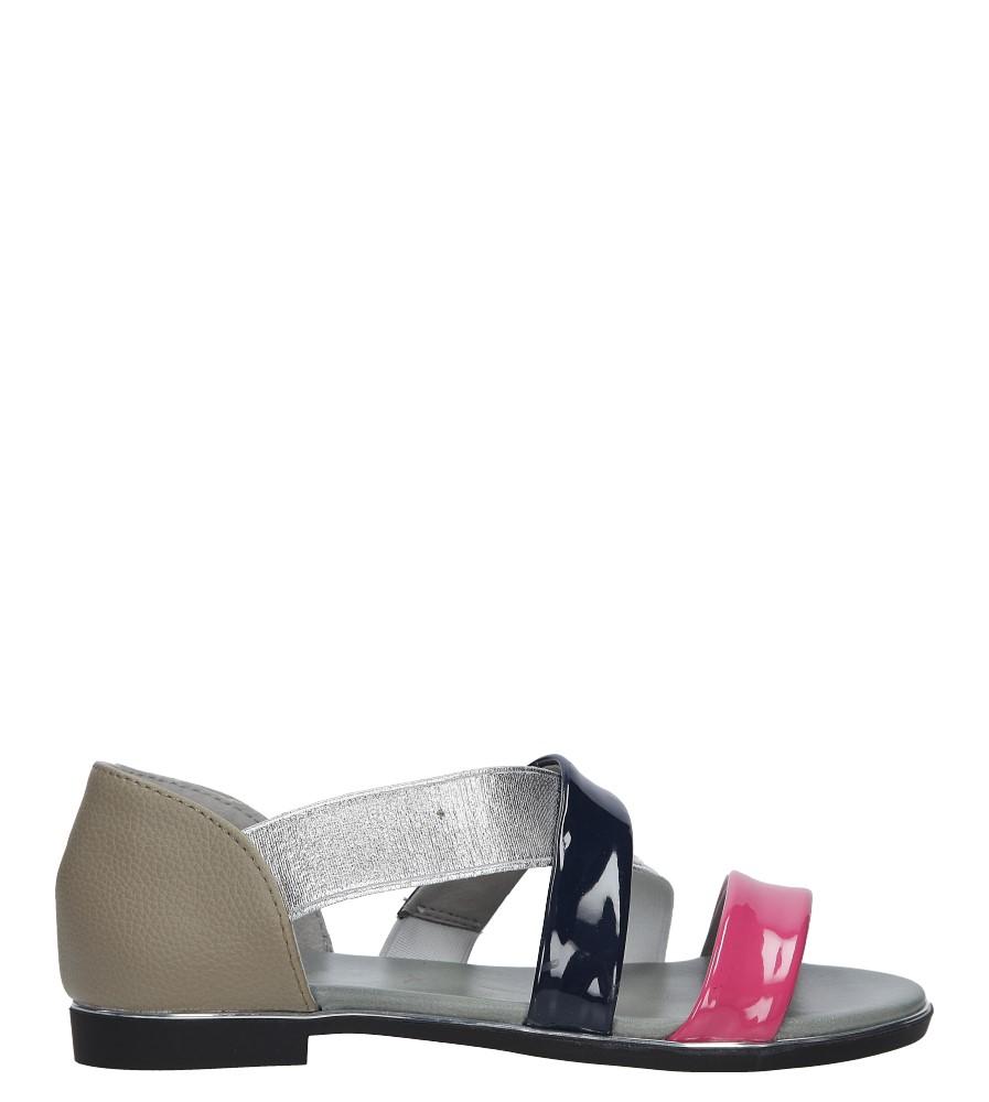 Fuksjowe sandały płaskie z zakrytą piętą Jezzi MR1741-2 fuksja