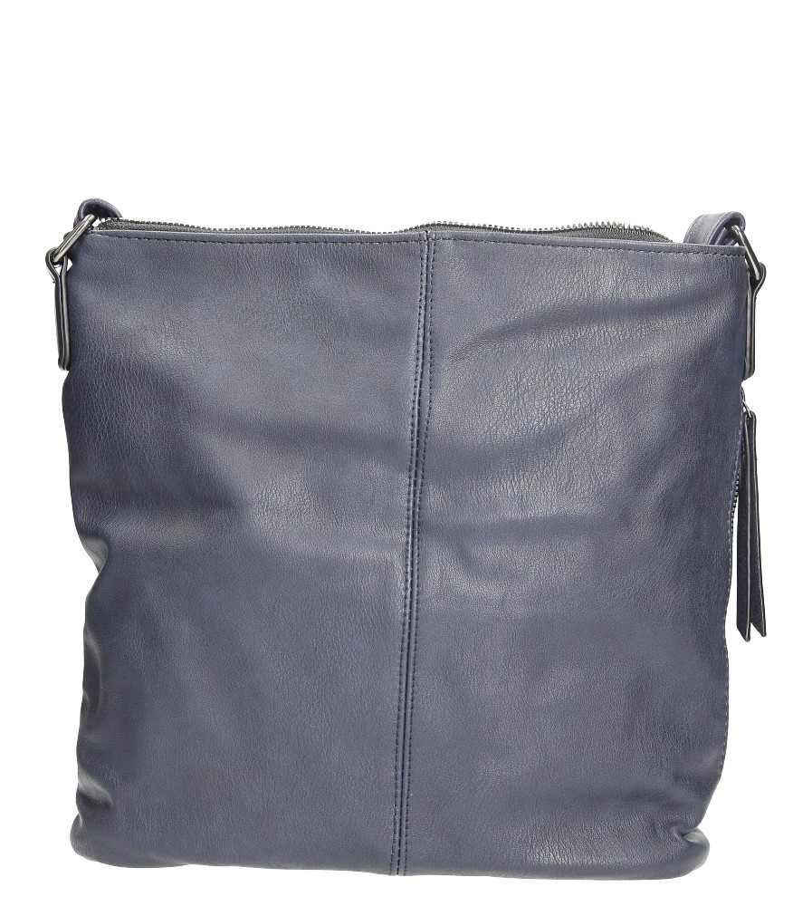 Granatowa torebka listonoszka z metalową ozdobą Casu 7719