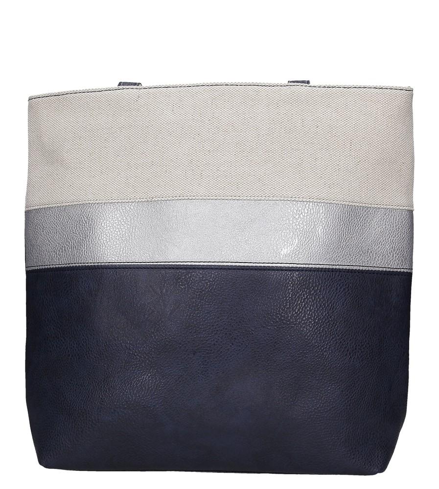 Granatowa torebka w pasy Casu AD-55