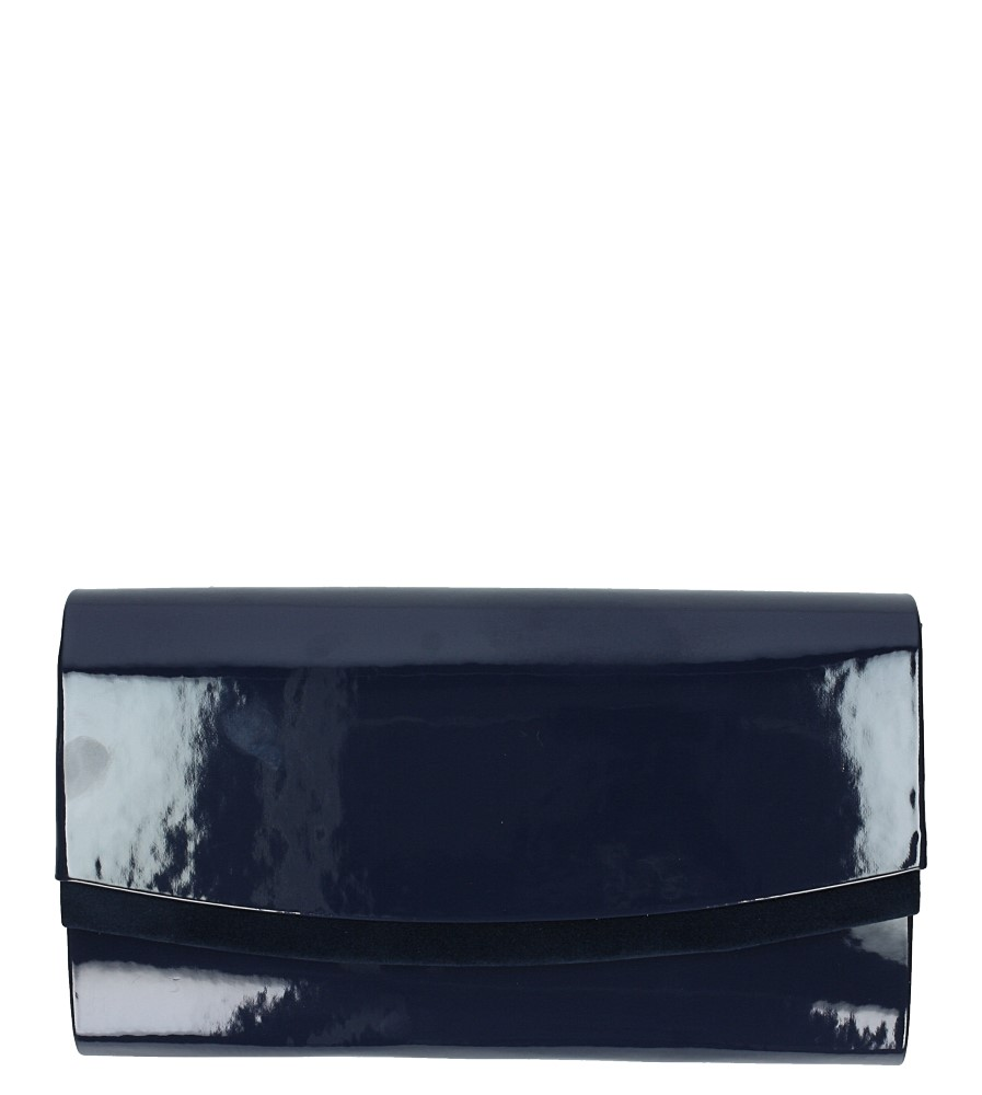 Granatowa torebka wizytowa lakierowana Casu R-2D