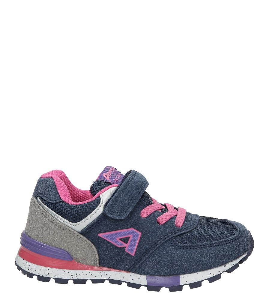 Granatowe buty sportowe na rzep American K15110G-1